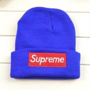 BLUE SUPREME BEANIE HAT